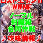 【黒猫のウィズ】双翼のロストエデン2WWMF【ノーマル 封魔級 合同作戦】攻略情報!