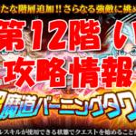 【黒猫のウィズ】「ラナ3姉妹の超魔道バーニングタワー」【第12階 い】攻略情報!