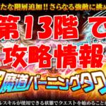 【黒猫のウィズ】「ラナ3姉妹の超魔道バーニングタワー」【第13階 で】攻略情報!